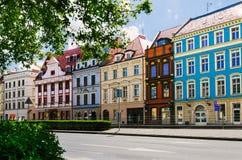 Οδός πόλεων στο παλαιό κέντρο κωμοπόλεων Στοκ Εικόνες