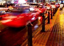 Οδός πόλεων τή νύχτα Στοκ φωτογραφία με δικαίωμα ελεύθερης χρήσης