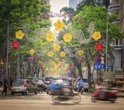 Οδός πόλεων Χο Τσι Μινχ, Βιετνάμ Στοκ Εικόνες
