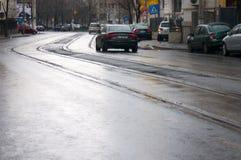 Οδός σε μια βροχερή ημέρα Στοκ φωτογραφία με δικαίωμα ελεύθερης χρήσης