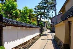 Οδός σε μια παλαιά περιοχή Kanazawa, Ιαπωνία Στοκ φωτογραφία με δικαίωμα ελεύθερης χρήσης