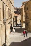 Οδός σε Σαλαμάνκα, Ισπανία Στοκ Εικόνα