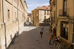 Οδός σε Σαλαμάνκα, Ισπανία Στοκ φωτογραφία με δικαίωμα ελεύθερης χρήσης
