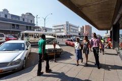 Οδός σε Bulawayo Ζιμπάμπουε Στοκ Φωτογραφίες