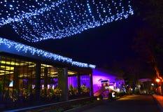 Οδός σε Christmastime Στοκ Φωτογραφία