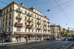 Οδός σε Geneve Στοκ Εικόνα