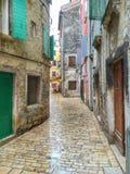 Οδός σε Rovinj Κροατία στοκ φωτογραφίες