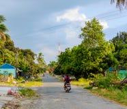 Οδός σε Sihanoukville, Καμπότζη στοκ εικόνες