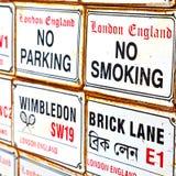 οδός σημάτων στο εικονίδιο μεταφορών του Λονδίνου Αγγλία Ευρώπη Στοκ Εικόνα