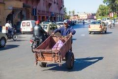 οδός σκηνής του Μαρακές Στοκ Φωτογραφία