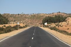 Οδός στην Αιθιοπία Στοκ εικόνες με δικαίωμα ελεύθερης χρήσης