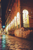 Οδός στην Κέρκυρα, Ελλάδα Στοκ εικόνα με δικαίωμα ελεύθερης χρήσης