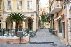 Οδός στην Κέρκυρα, Ελλάδα Στοκ εικόνες με δικαίωμα ελεύθερης χρήσης