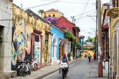 Οδός στην Καρχηδόνα, Κολομβία Στοκ εικόνα με δικαίωμα ελεύθερης χρήσης