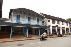 Οδός στην παλαιά πόλη Luang Prabang Στοκ εικόνες με δικαίωμα ελεύθερης χρήσης