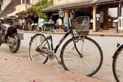 Οδός στην παλαιά πόλη Luang Prabang Στοκ εικόνα με δικαίωμα ελεύθερης χρήσης