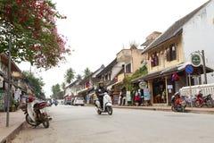 Οδός στην παλαιά πόλη Luang Prabang Στοκ Φωτογραφίες