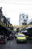 Οδός στην πόλη της Μπανγκόκ, Ταϊλάνδη Στοκ φωτογραφία με δικαίωμα ελεύθερης χρήσης