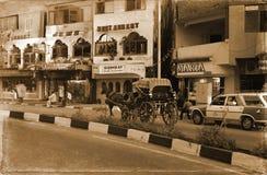 Οδός στην πόλη Luxor Στοκ εικόνα με δικαίωμα ελεύθερης χρήσης