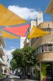 Οδός στη Λευκωσία - awning χρώματος τυφλό - Κύπρος Στοκ φωτογραφίες με δικαίωμα ελεύθερης χρήσης