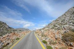 Οδός στο βουνό της Κρήτης Στοκ Εικόνες