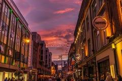 Οδός στο Δουβλίνο, Ιρλανδία Στοκ Φωτογραφία