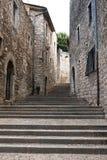 Οδός στο εβραϊκό τέταρτο Girona Στοκ Εικόνες