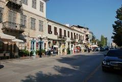 Οδός στο κέντρο Nafplion στοκ εικόνες