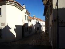 Οδός στο Κασκάις, Πορτογαλία Στοκ Φωτογραφία