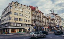 Οδός στο Πίλζεν Στοκ Φωτογραφίες