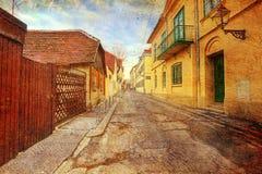 Οδός στο παλαιό Ζάγκρεμπ, Κροατία στοκ φωτογραφία με δικαίωμα ελεύθερης χρήσης