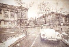 Οδός στο παλαιό Ζάγκρεμπ, Κροατία στοκ φωτογραφία