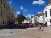 Οδός στο Oldtown Slovakias κύρια Μπρατισλάβα στοκ εικόνες με δικαίωμα ελεύθερης χρήσης