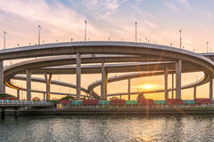 Οδός ταχείας κυκλοφορίας η υποδομή για το transportat Στοκ Εικόνα