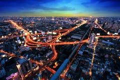Οδός ταχείας κυκλοφορίας της Μπανγκόκ Στοκ Εικόνες