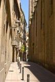 Οδός της Βαρκελώνης στοκ εικόνα με δικαίωμα ελεύθερης χρήσης
