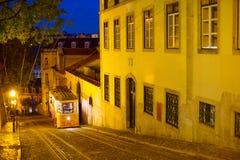 Οδός της Λισσαβώνας νύχτας, Πορτογαλία Στοκ Εικόνα