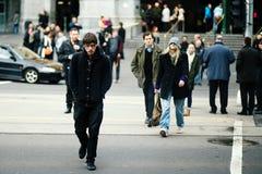 Οδός της Μελβούρνης Flinders το χειμώνα Στοκ φωτογραφίες με δικαίωμα ελεύθερης χρήσης