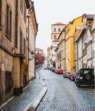 οδός της Πράγας Στοκ Εικόνες