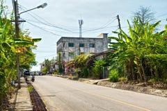 Οδός της πόλης Krabi στοκ εικόνα
