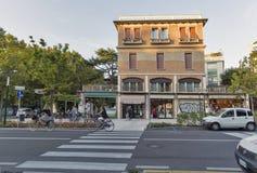 Οδός της Σάντα Μαρία Elisabetta Lido, Ιταλία Στοκ Φωτογραφία