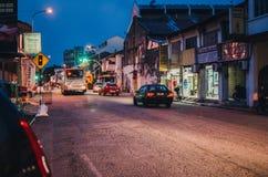 Οδός τη νύχτα στην Τζωρτζτάουν στοκ φωτογραφία