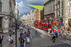 οδός του Λονδίνου Οξφόρ&del Στοκ φωτογραφίες με δικαίωμα ελεύθερης χρήσης