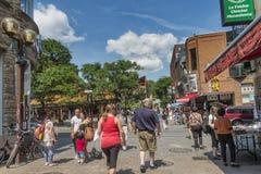 Οδός του Μόντρεαλ Chinatown de Λα Gauchetieres Στοκ εικόνα με δικαίωμα ελεύθερης χρήσης