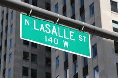 Οδός του Σικάγου - LaSalle Στοκ Φωτογραφίες