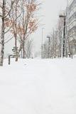 Οδός χιονιού Στοκ φωτογραφία με δικαίωμα ελεύθερης χρήσης