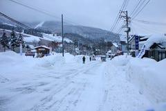 Οδός χιονιού Στοκ φωτογραφίες με δικαίωμα ελεύθερης χρήσης