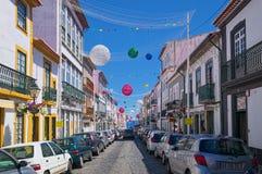 Οδός Angra do Heroismo, νησί Terceira, Αζόρες Στοκ εικόνες με δικαίωμα ελεύθερης χρήσης