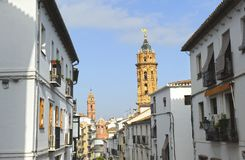 Οδός Antequera, Μάλαγα επαρχία, Ισπανία Στοκ Φωτογραφίες