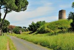Οδός Antica Appia στη Ρώμη Στοκ φωτογραφίες με δικαίωμα ελεύθερης χρήσης